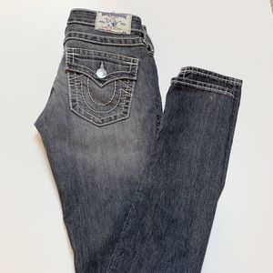 True Religion Skinny Fit Big T Jean Dark Gray 26